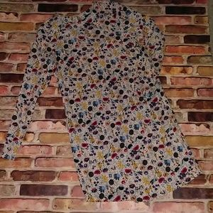 H&M Dress Floral Abstract SZ 2